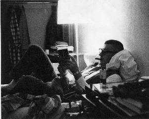 Dad reading cigar