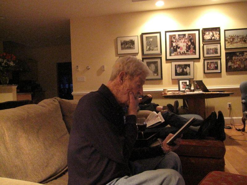 Dad reading 2010
