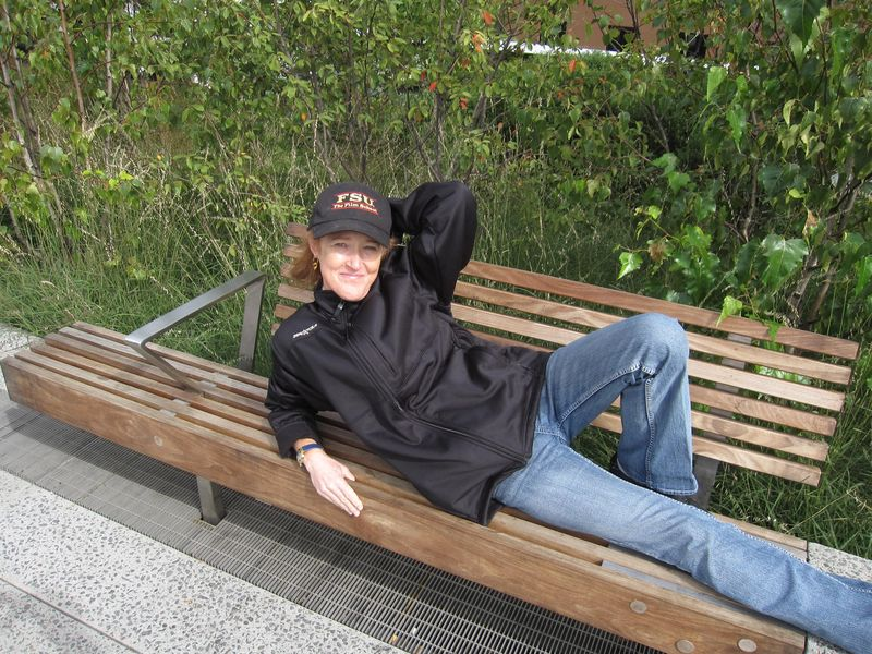 Sheila relaxing at the high line